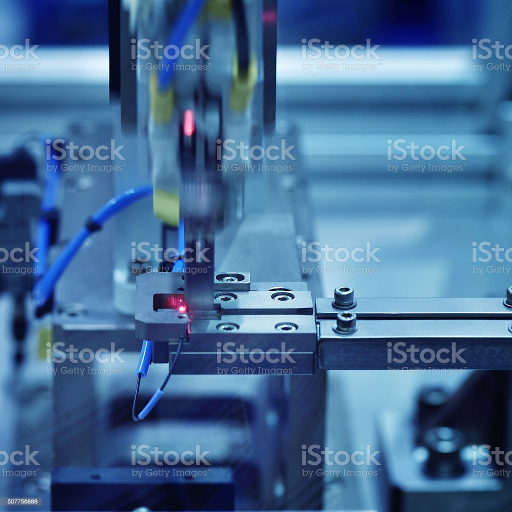 Automated Production Line stock photo
