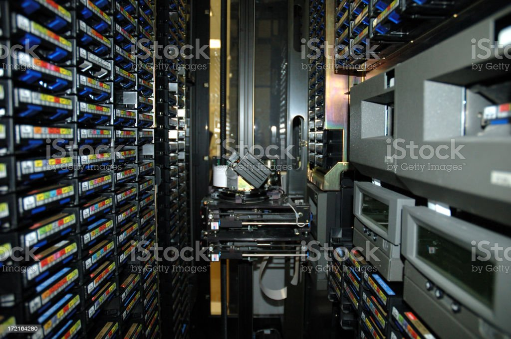 Automated Tape Library stock photo