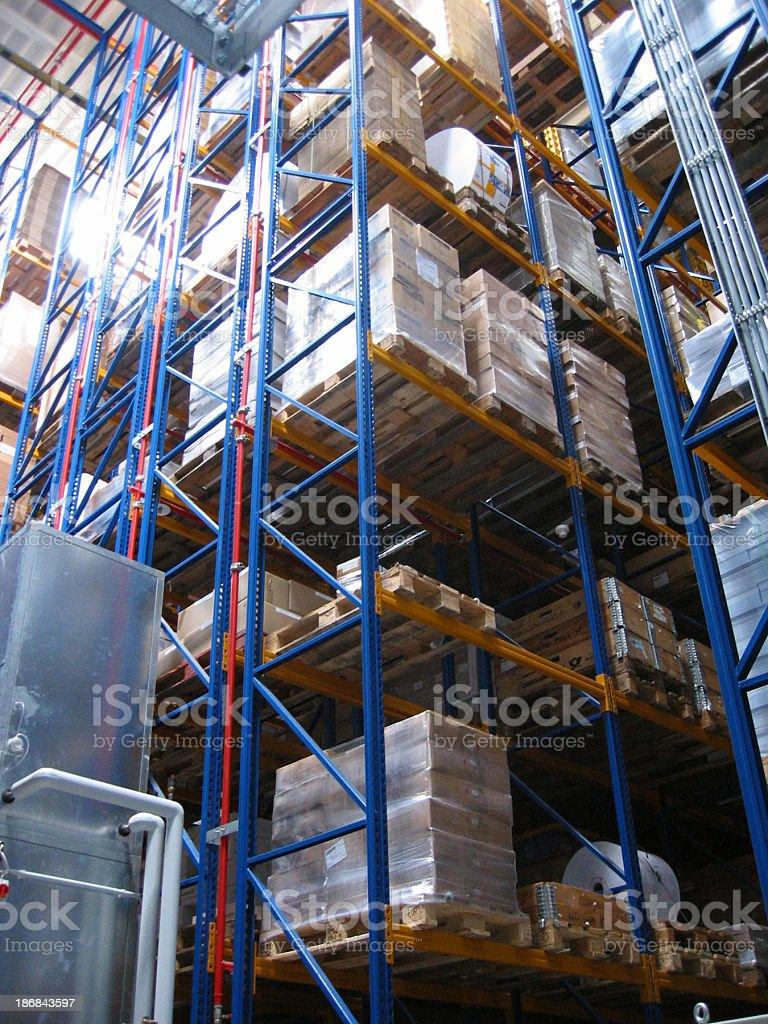 Automated warehouse stock photo