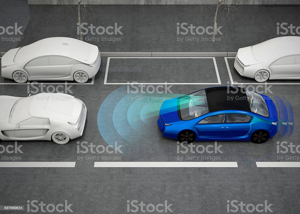 Automatic braking system concept stock photo