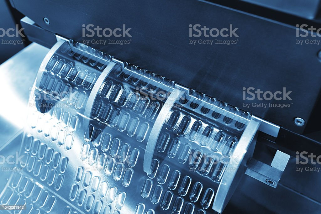 Automatic Capsule Package Production Line stock photo