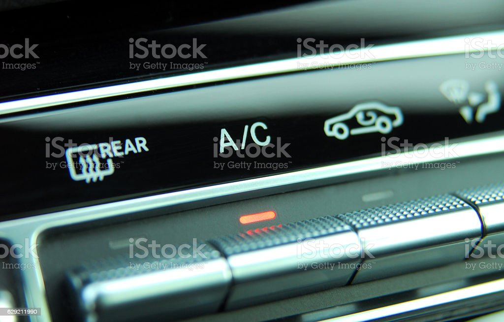 automatic Car Air Conditioner stock photo