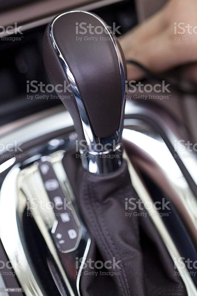 automatic car shift gear royalty-free stock photo