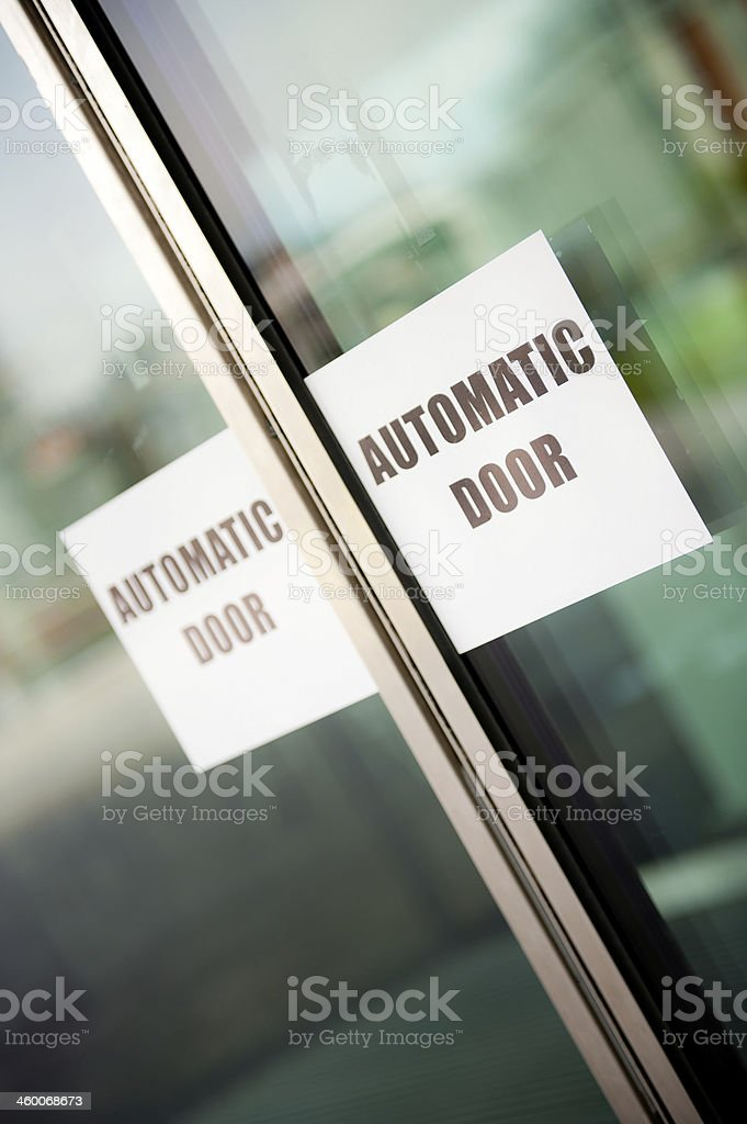 Automatic Doors stock photo