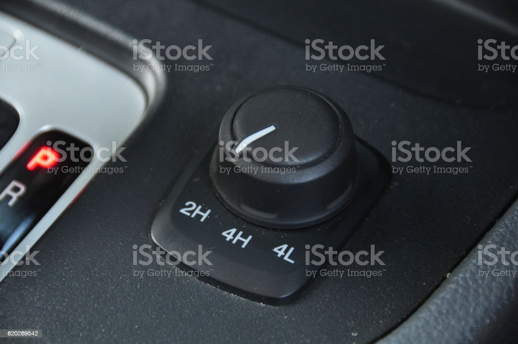 automatic gear lever and gear shift stock photo