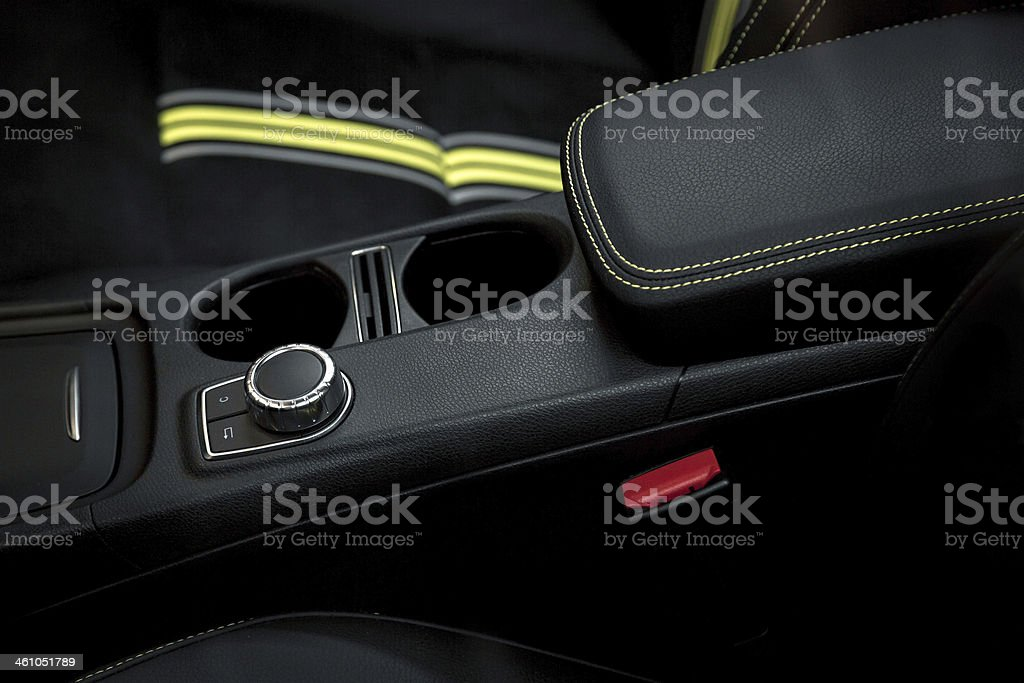 Automatic gear shift of a car royalty-free stock photo