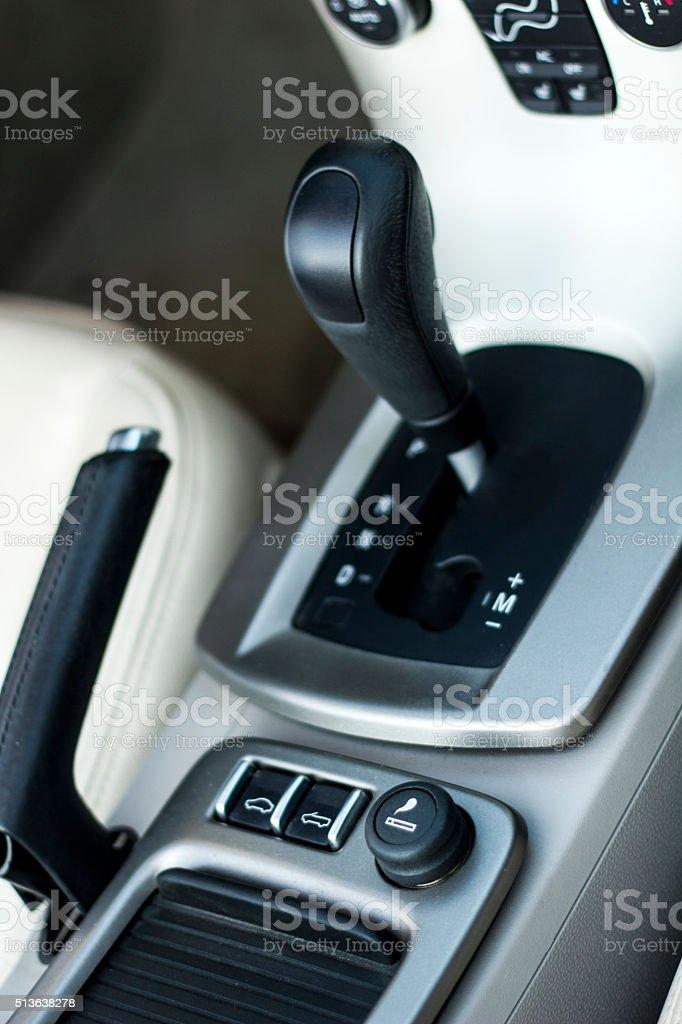 Automatic Gearshift stock photo