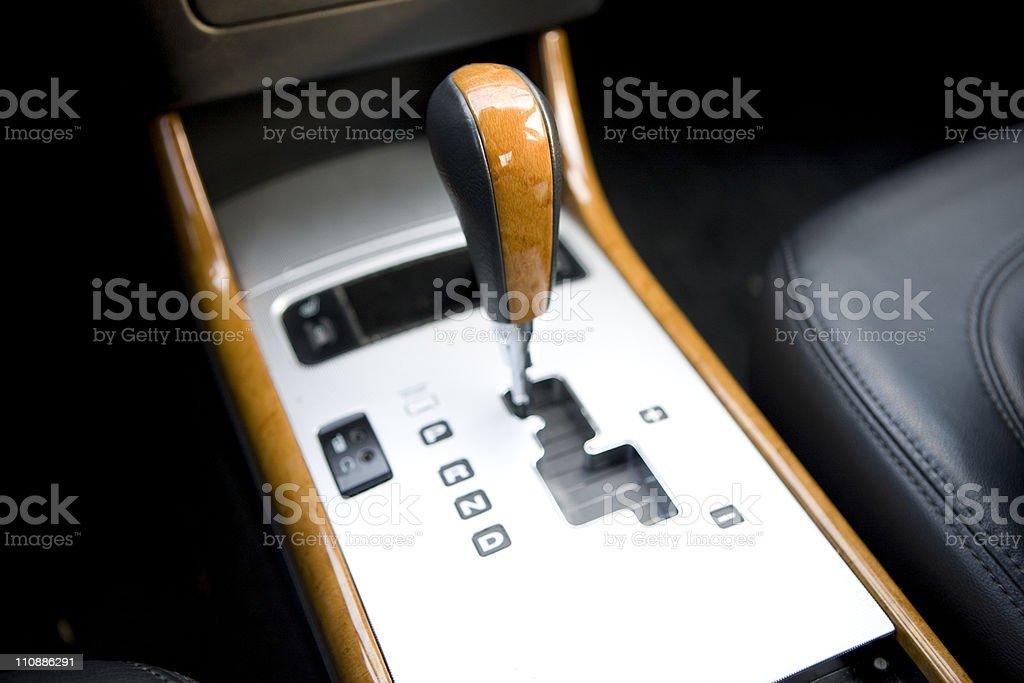 automatic gearstick stock photo