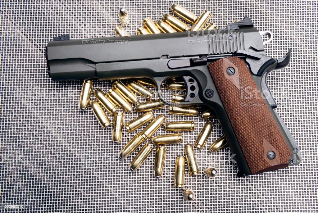 Automatic Gun stock photo