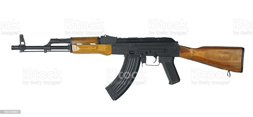Automatic gun with clipping path royalty-free stock photo