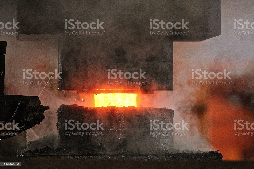 Automatic hot stamping process stock photo