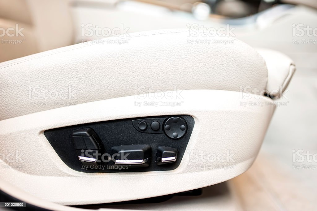 Automatic, luxurious and comfortable car seats stock photo