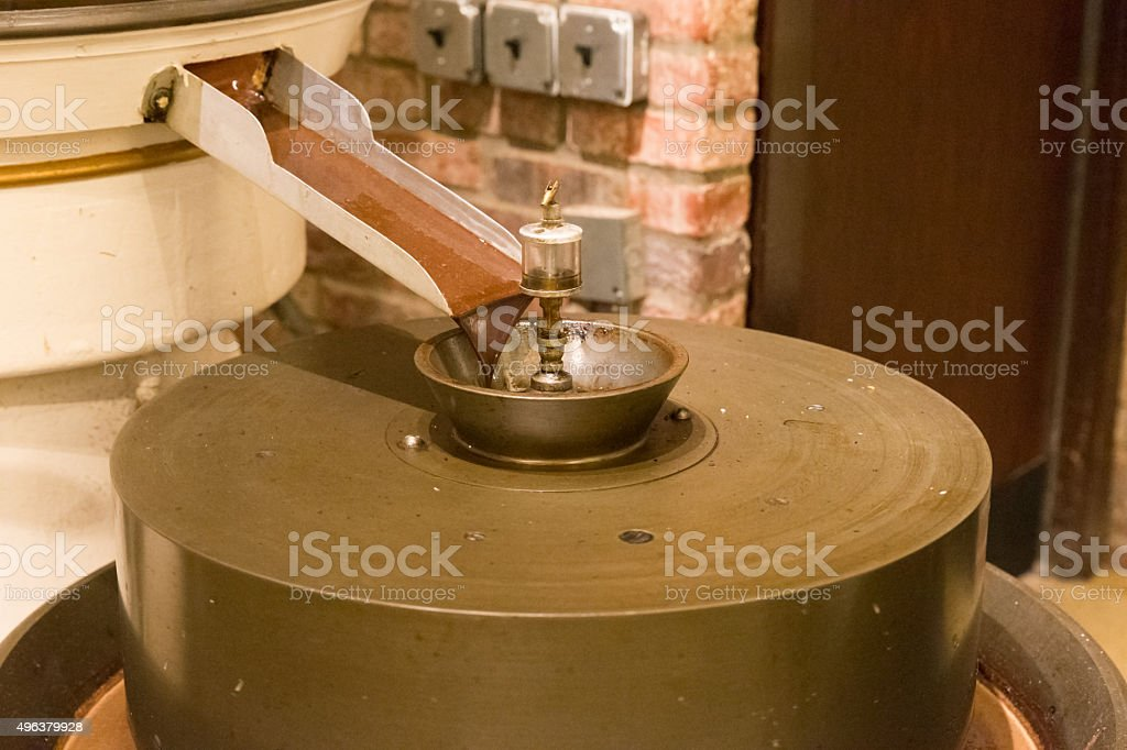 Automatic machine for Chocolate production stock photo