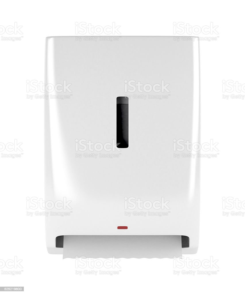 Automatic paper towel dispenser stock photo
