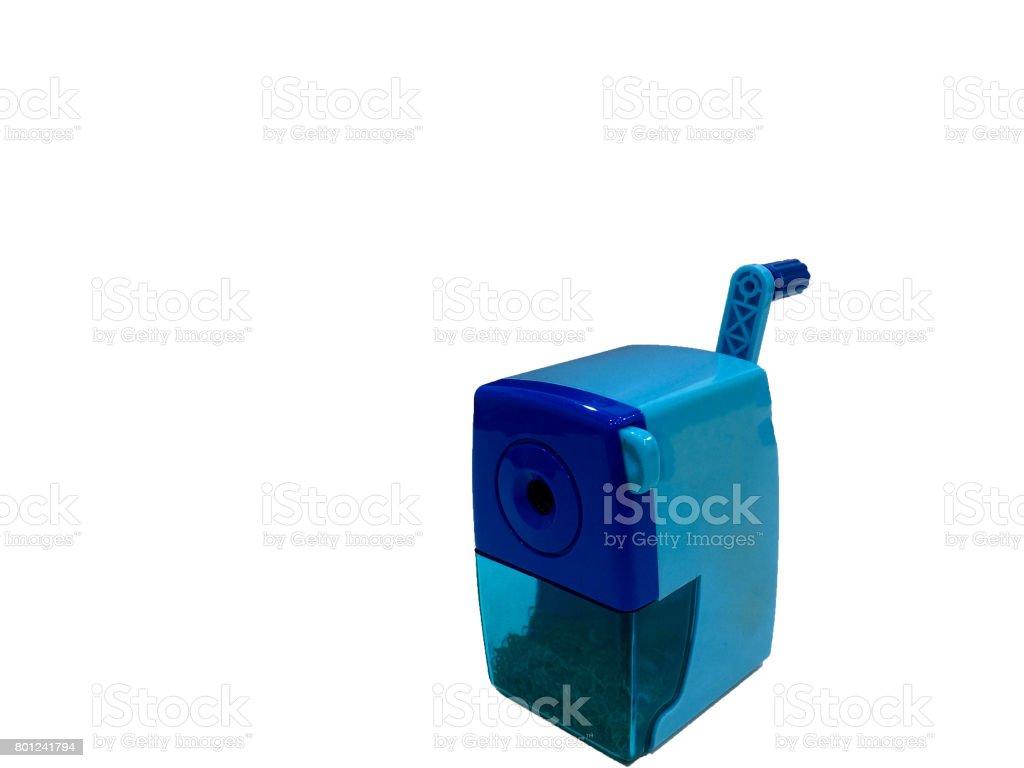 Automatic pencil sharpener isolate white background stock photo
