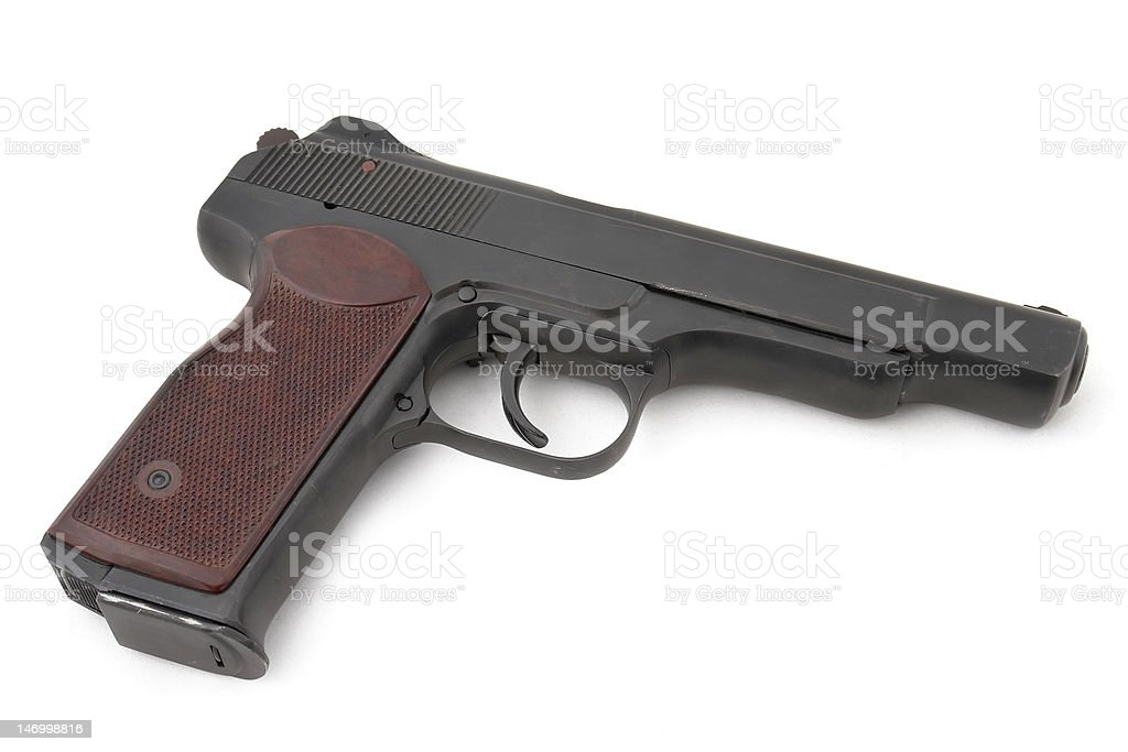 automatic pistol of Russian special units royalty-free stock photo