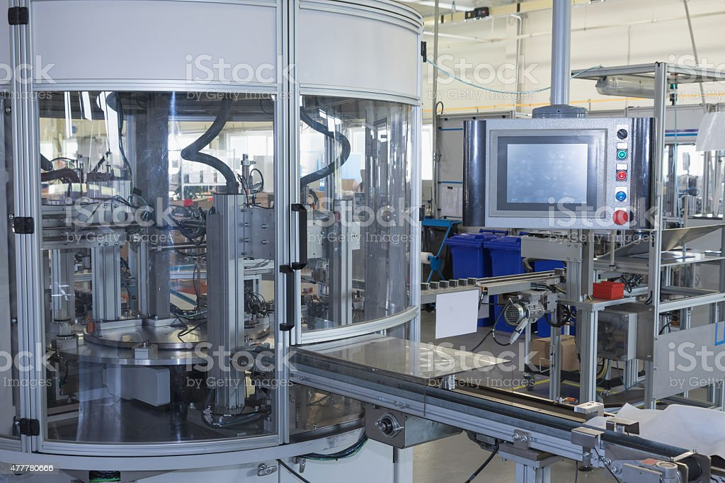 Automatic production line stock photo