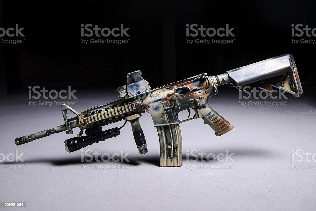 Automatic rifle M16 stock photo
