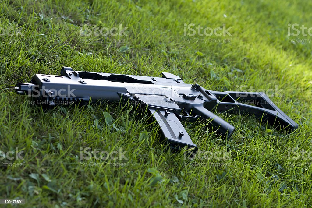 Automatic rifle stock photo