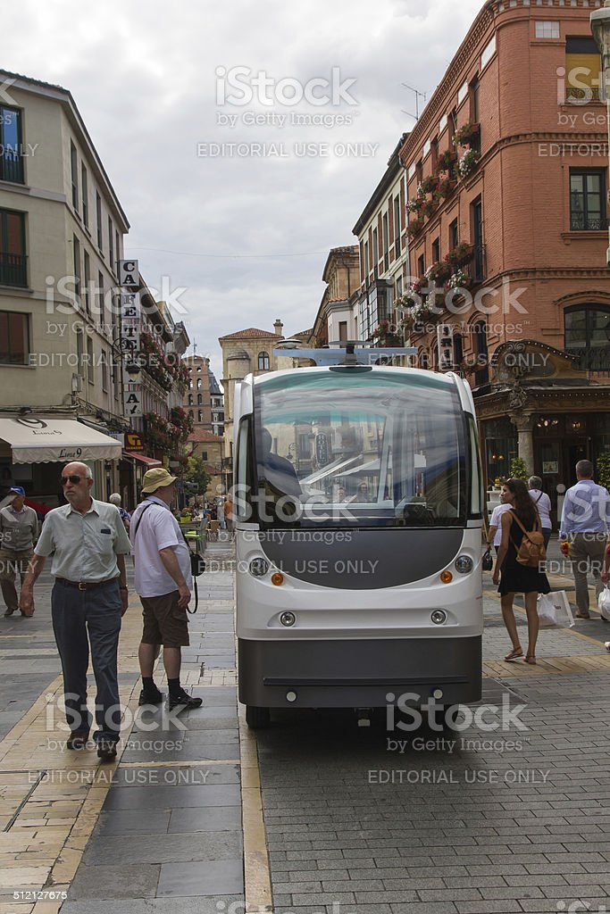 Automatic Road Transport System - Driverless Vehicle stock photo