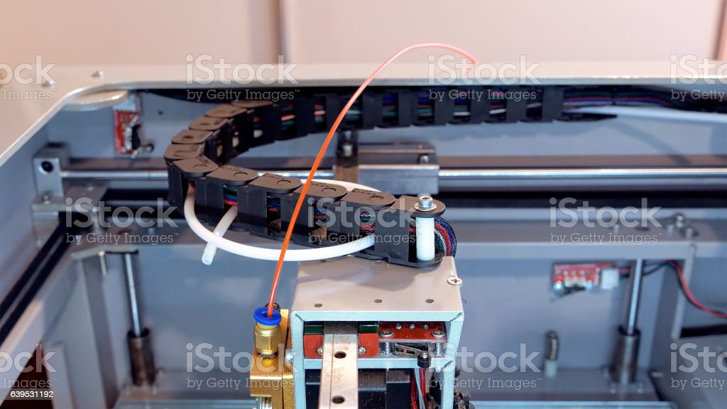 Automatic robotics mechanical equipment laboratory stock photo