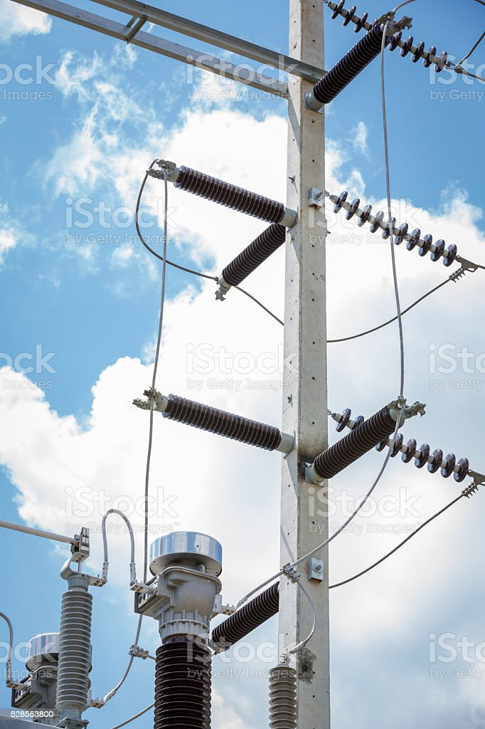 Automatic Voltage Regulator the part of electric power system stock photo