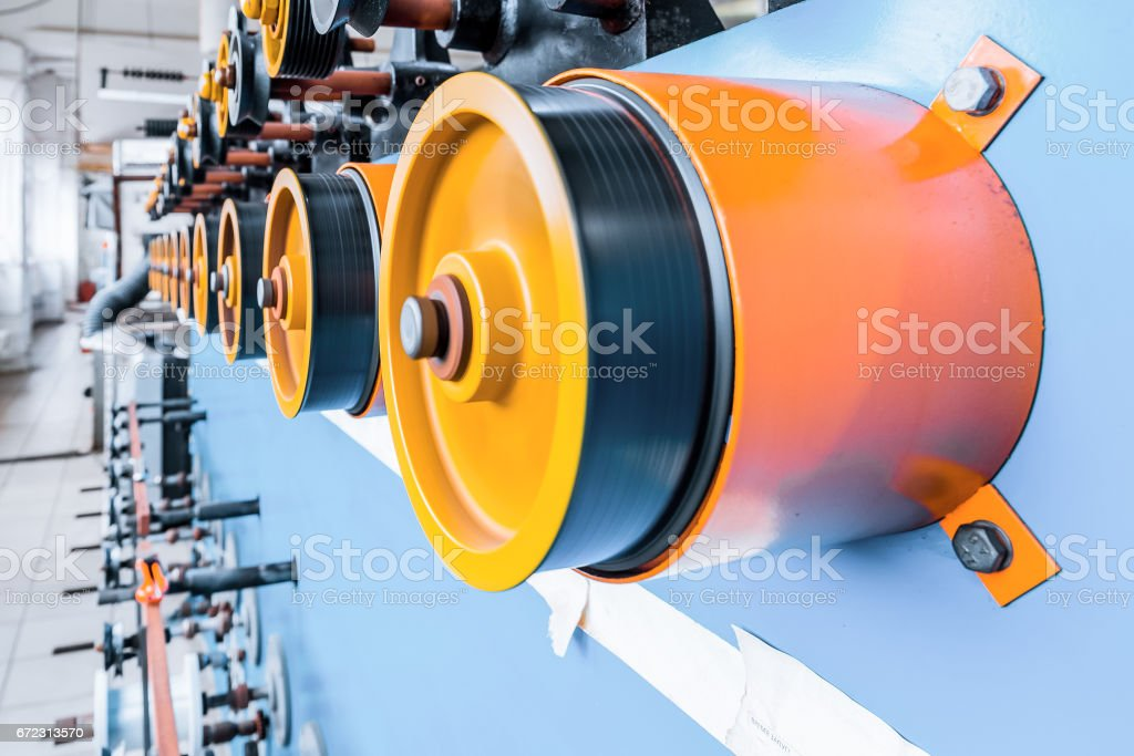 Automatic winding machine stock photo
