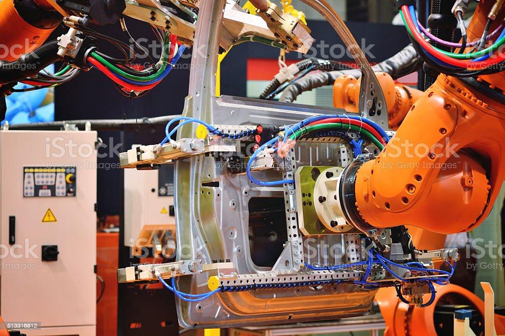 Automation Robotic Arm stock photo
