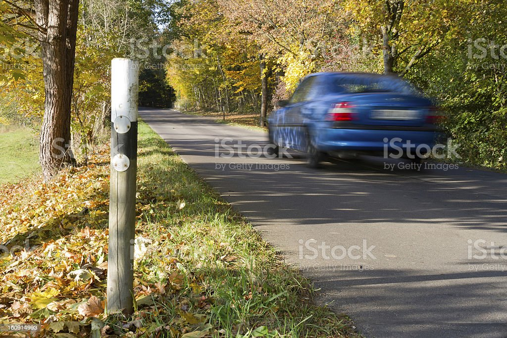 Automn Road in Germany royalty-free stock photo