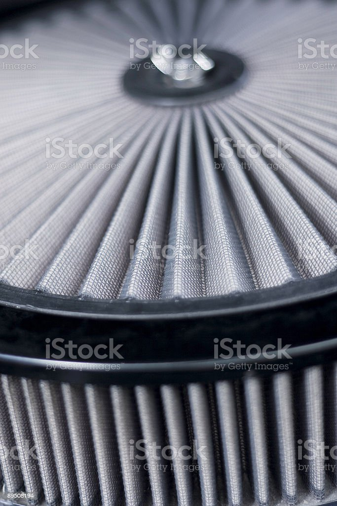 Automobile air filter. stock photo
