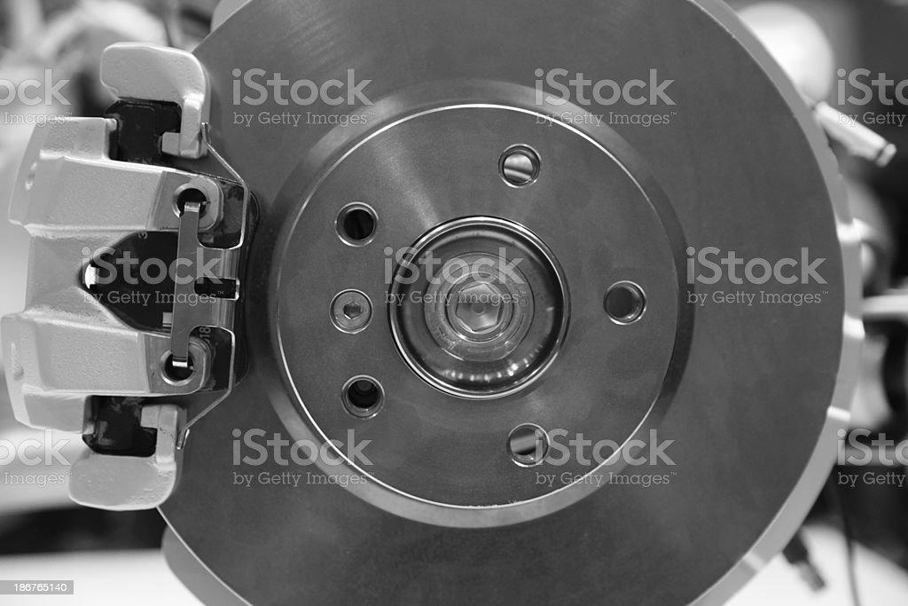 Automobile brake disc stock photo