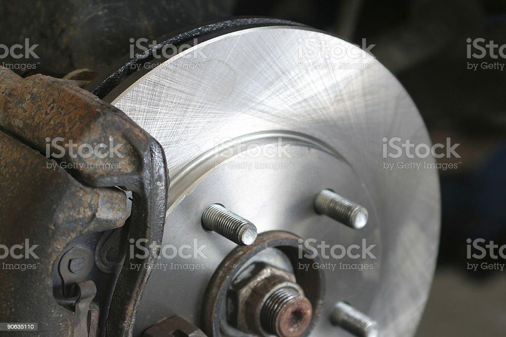 Automobile Brake Service royalty-free stock photo