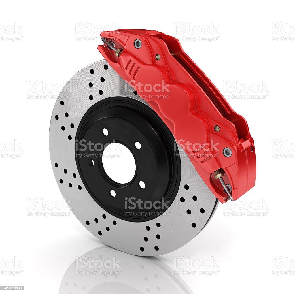 Automobile braking system. stock photo