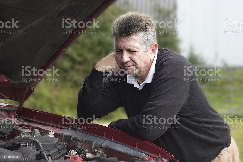 automobile breakdown royalty-free stock photo