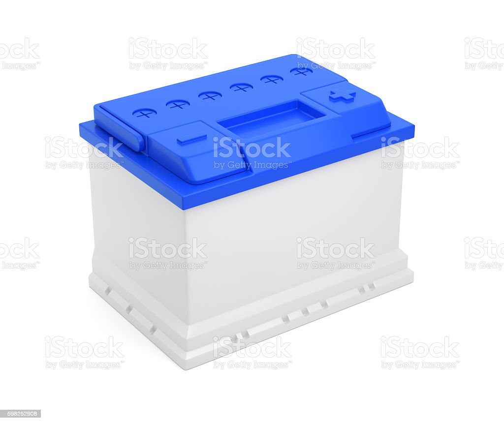 Automobile car battery stock photo
