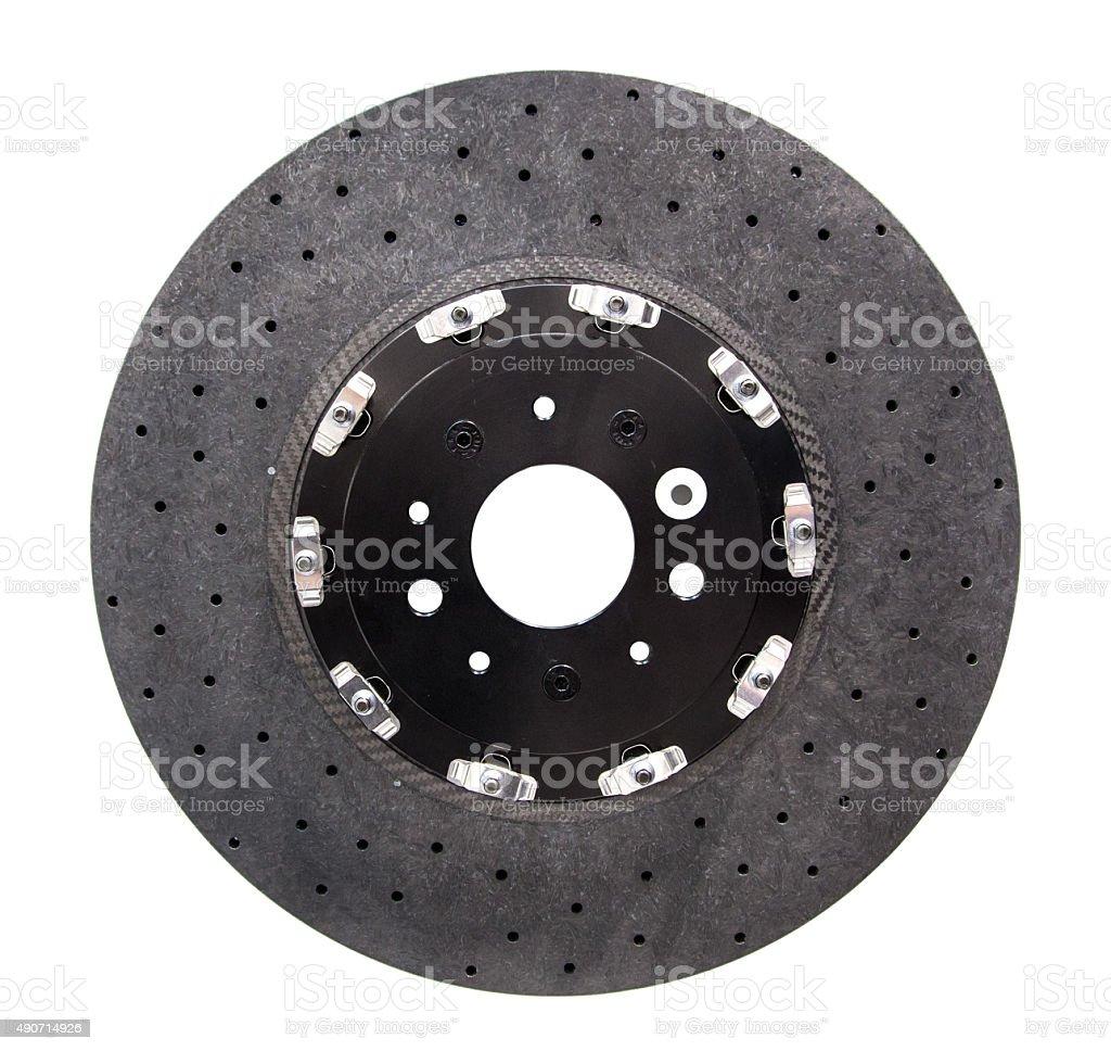 Automobile ceramic composite brake disk stock photo