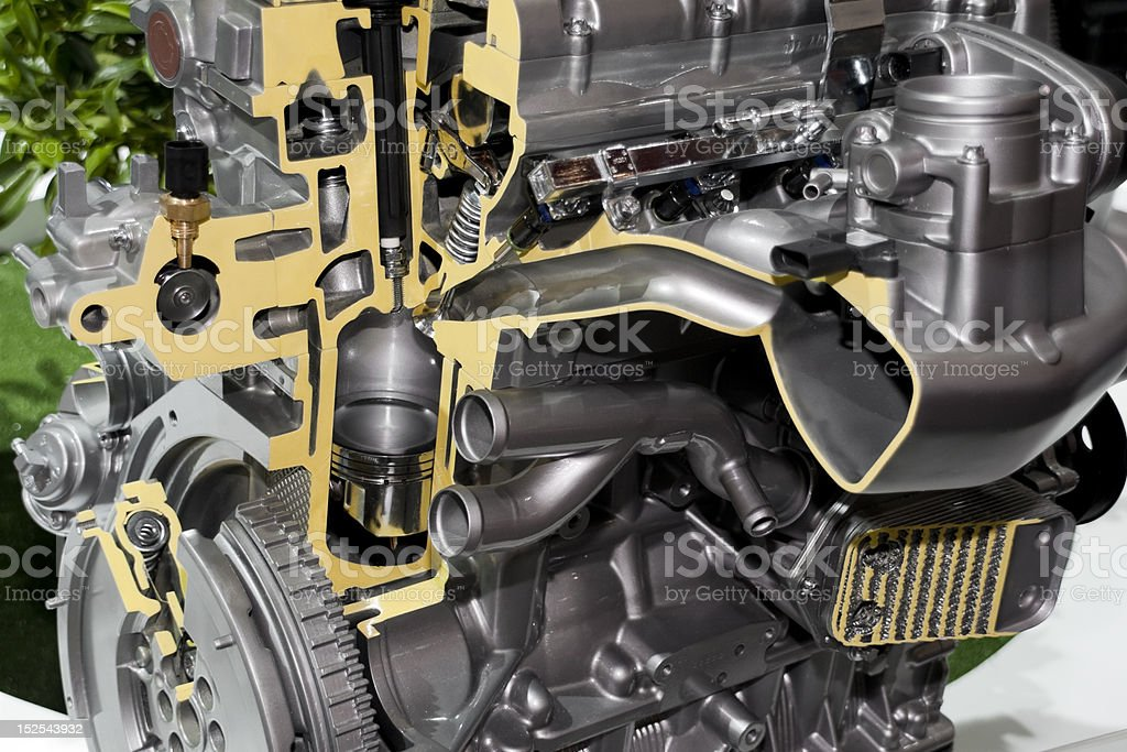 automobile engine royalty-free stock photo