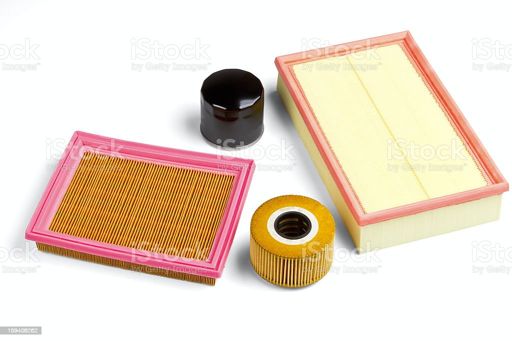 Automobile filters stock photo