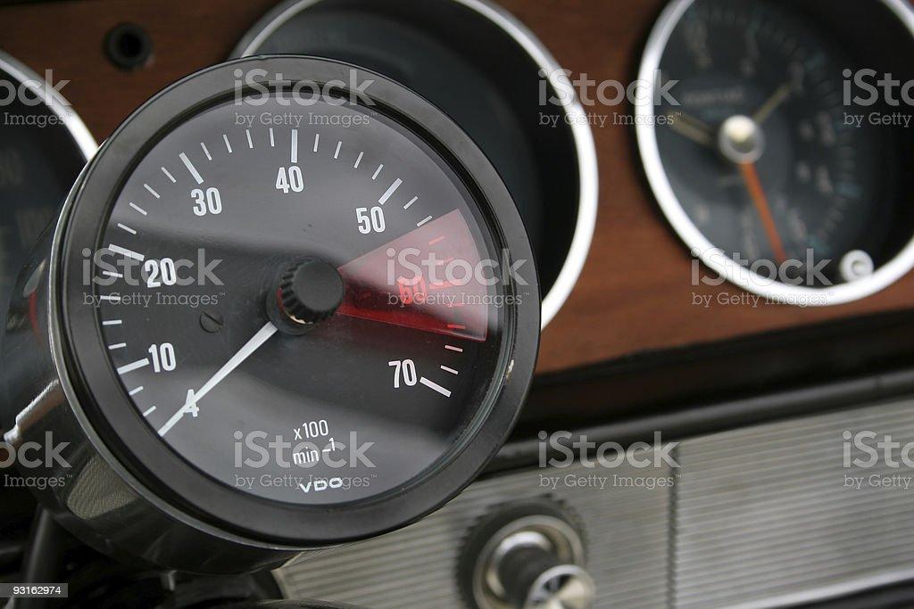 Automobile Gauge stock photo