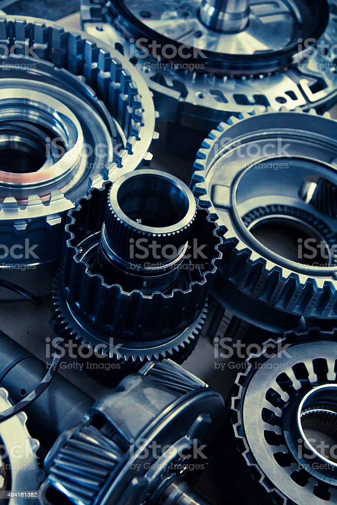 automobile gear assembly stock photo