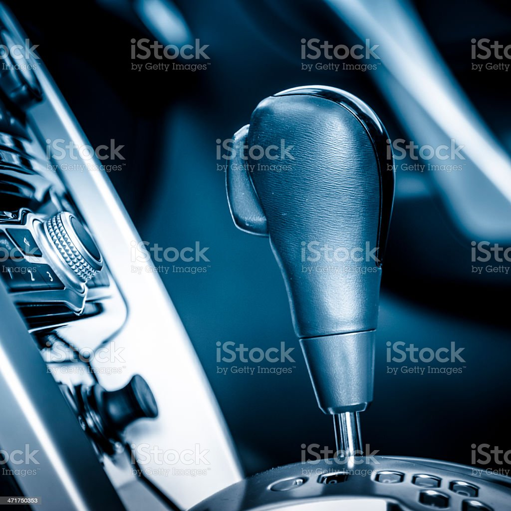 Automobile Gear Stick royalty-free stock photo