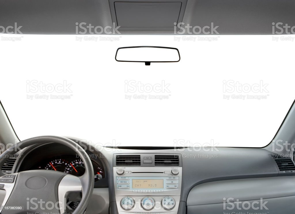 Automobile interior dashboard royalty-free stock photo