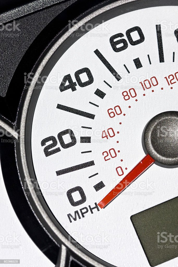 Automobile odometer royalty-free stock photo