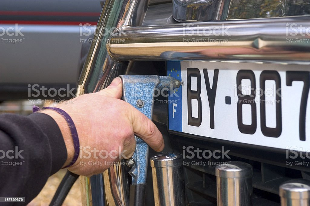 automobile registration stock photo