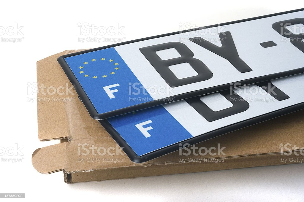 automobile registration stock photo
