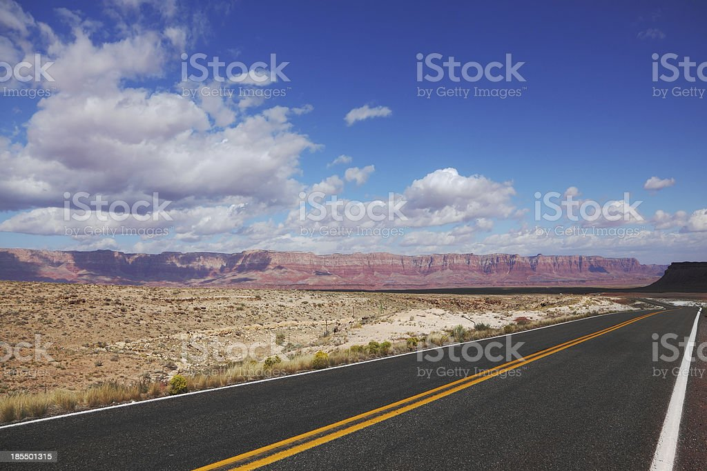 Automobile road  in California. royalty-free stock photo