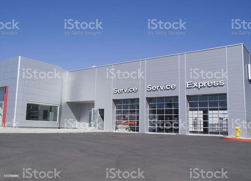 Automobile Serice Station royalty-free stock photo
