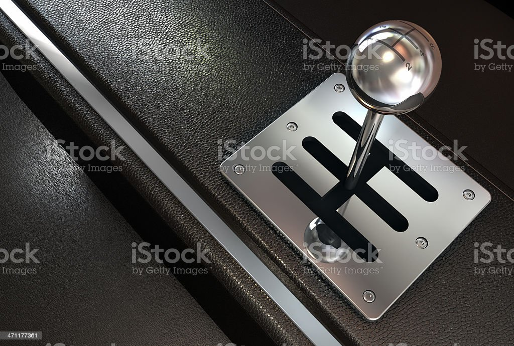 Automobile - Shift gear royalty-free stock photo
