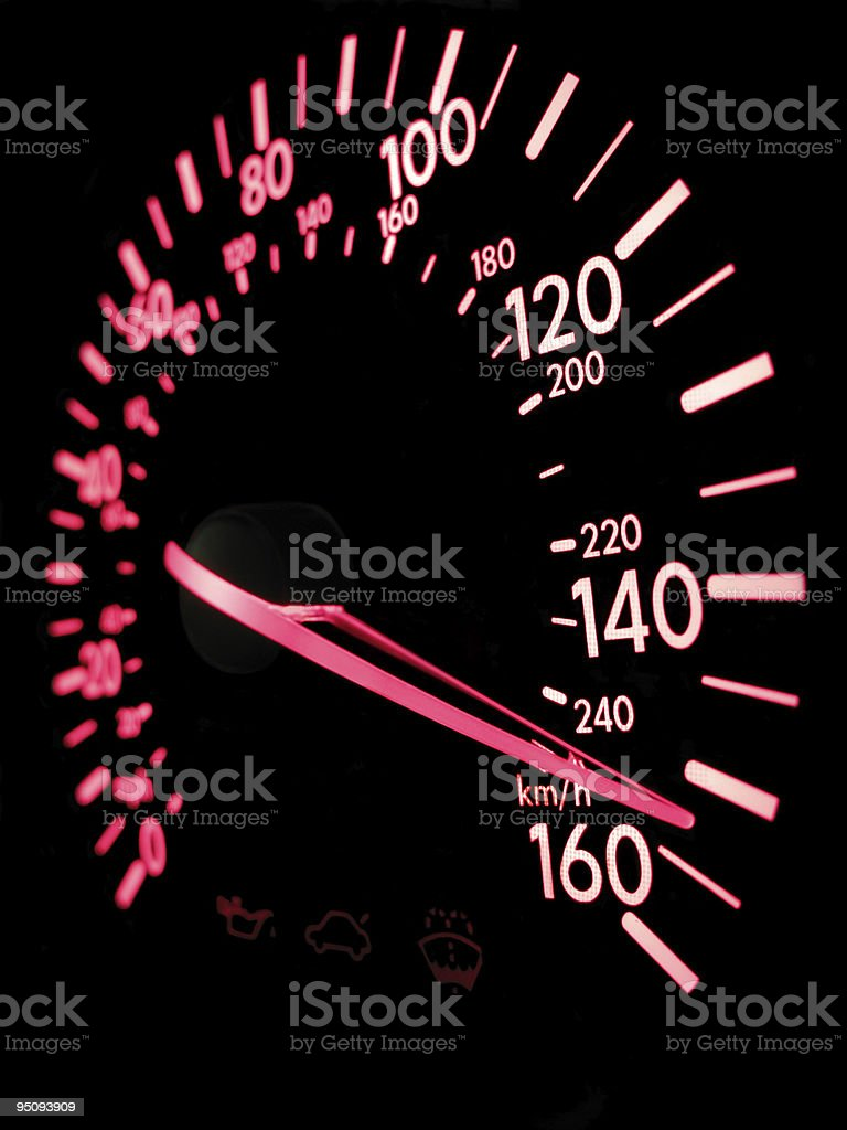 automobile speedometer 3D royalty-free stock photo