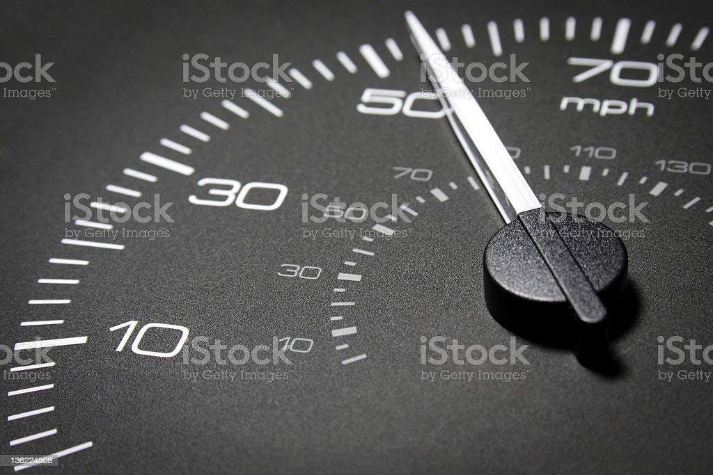 Automobile speedometer stock photo